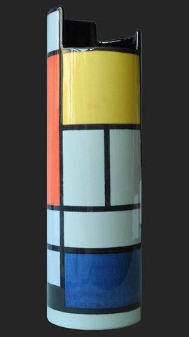 Silhouette d'art Vase by John Beswick - Mondrian - Composition with Large Red Plane SDA26