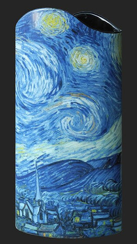Silhouette d'art Vase by John Beswick - Van Gogh - A Starry Night SDA29