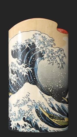 Silhouette d'art Vase - Hokusai The Wave SDA39