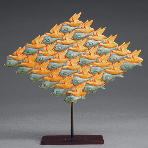 Birds and Fish by Escher Statue ESC03