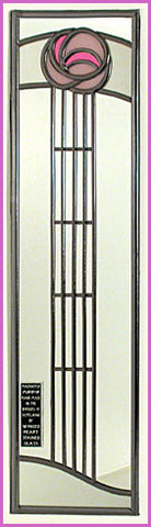 Rennie Mackintosh Mirror - Art School Rosebud - Pale Pink