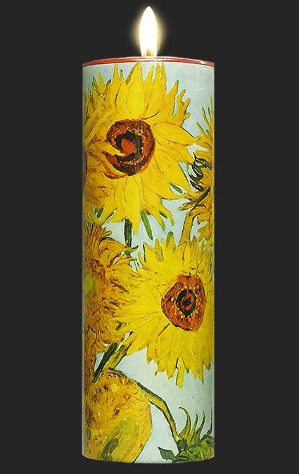 Tall Tea Light Holder - Van Gogh - Sunflowers TC01GO