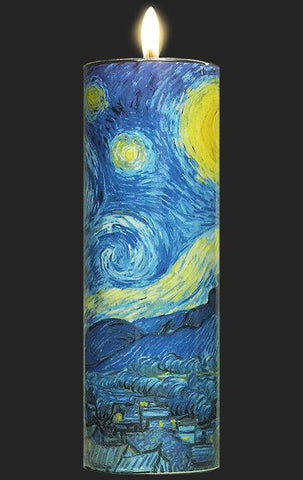Tall Tea Light Holder - Van Gogh - Starry Night TC02GO