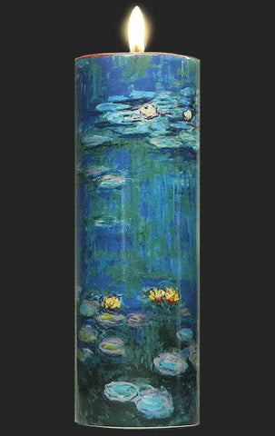 Tall Tea Light Holder - Monet - Water Lilies TC07MO
