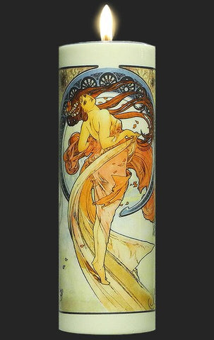 Tall Tea Light Holder - Mucha - The Arts TC08MU