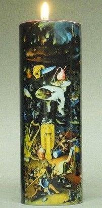 Tall Tea Light Holder - Bosch - Paradise and Hell TC11JB