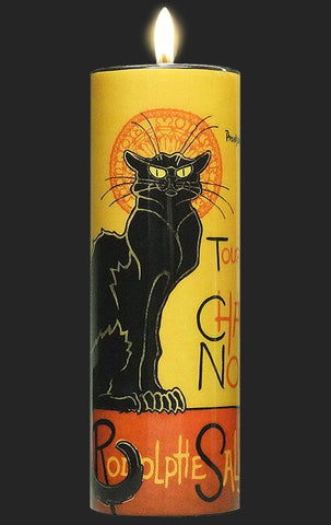 Tall Tea Light Holder - Steinlen - Le Chat Noir - TC13ST