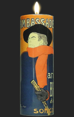 Tall Tea Light Holder - Toulouse Lautrec - Aristide Bruant TC14TL