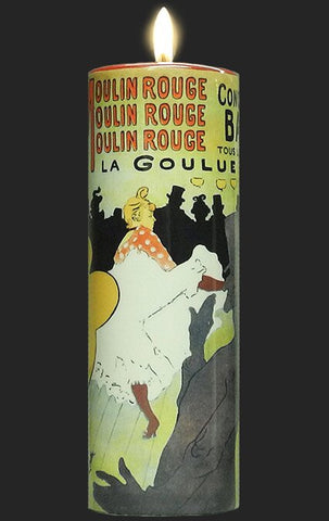 Tall Tea Light Holder - Toulouse Lautrec - Moulin Rouge TC15TL
