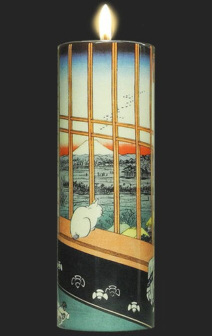 Tall Tea Light Holder - Hiroshige - View of Edo Nr. 101 TC16HI