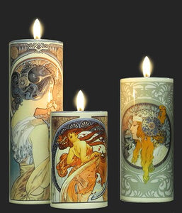 Set of 3 Tea Lights - Mucha TS04MU