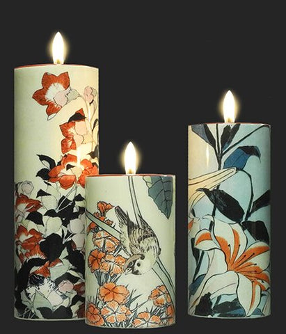 Set of 3 Tea Lights - Hokusai TS06HOK