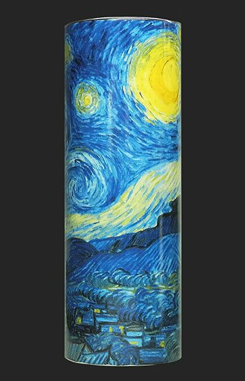 Small Silhouette d'art Vase by John Beswick - Van Gogh - Starry Night VAS02GO