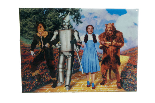 4 Characters on Yellow Brick Road Magnet