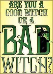 """Are you a good with or BAD Witch?"" Magnet"
