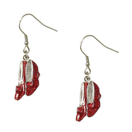 Ruby Slippers Dangle Earrings