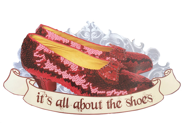 Red Slippers Car Magnet