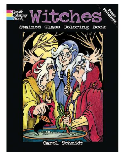 Witches Stained Glass Coloring Book