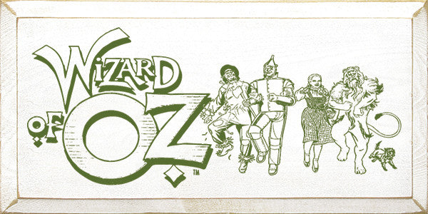 Wizard of OZ Character wood sign