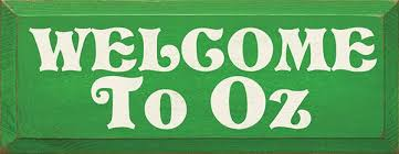 Welcome to Oz wood sign
