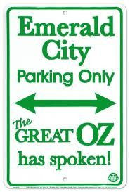 Emerald City Parking only sign