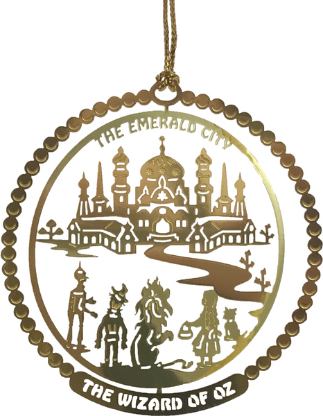 Emerald City Brass Ornament