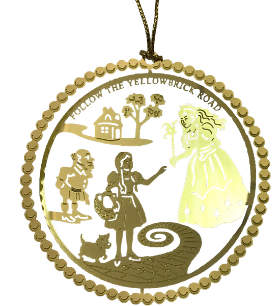 Follow the Yellow Brick Road Brass Ornament