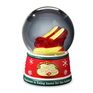 Ruby Slipper Holiday Musical Water Globe