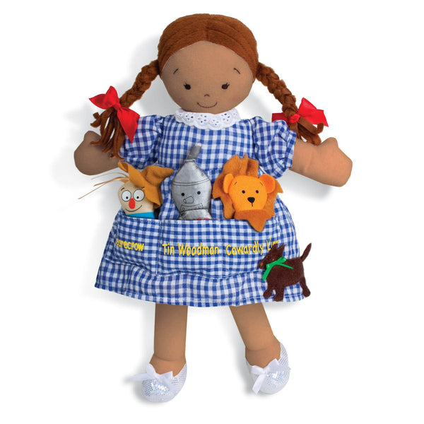 Dorothy Pockets Doll & 3 Finger Puppets