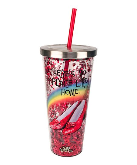 NPLH Glitter Cup with Straw