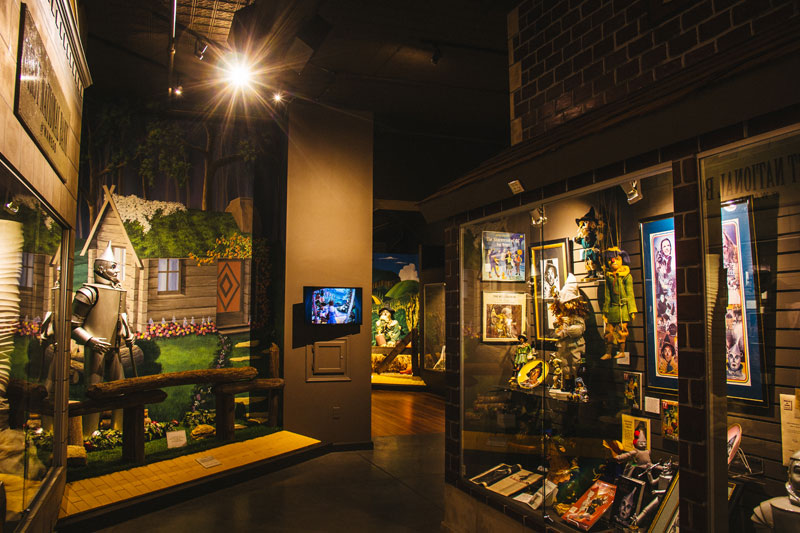 An example of just a few of the exhibits found at the OZ Museum