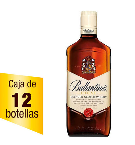 Caja de 12 Whisky Ballantines Finest 700 ml