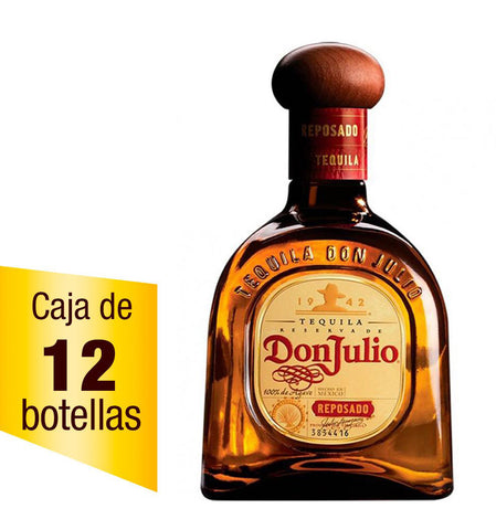 Caja de 12 Tequila Don Julio reposado 700 ml