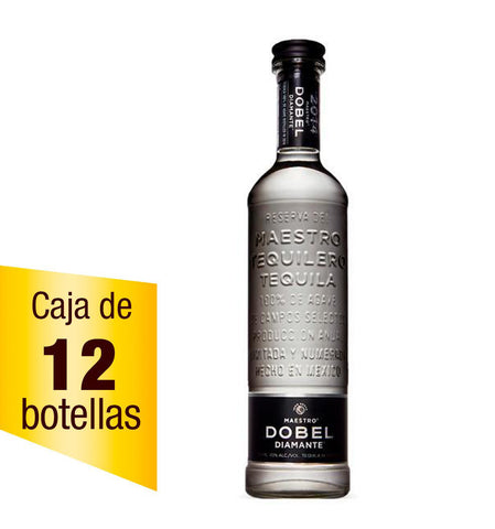 Tequila Maestro Dobel Diamante 750ml Caja de 12