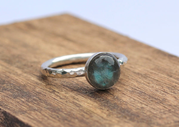 Labradorite 8mm Stacking Ring