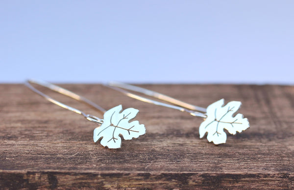 Sycamore Leaf Hook Earrings