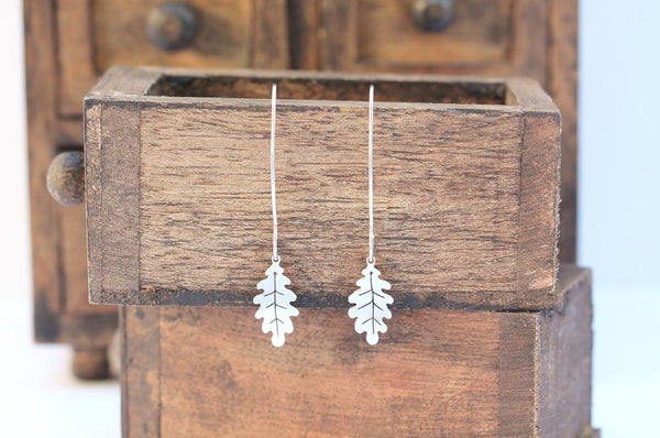 Oak Leaf Hook Earrings