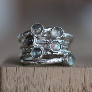 Labradorite 5mm Stacking Ring