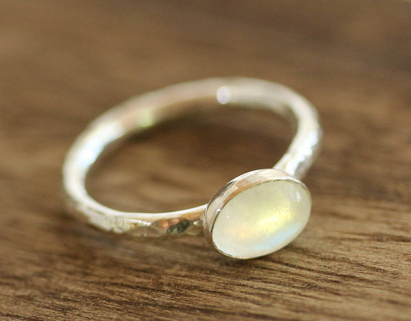 Moonstone Oval Stacking Ring