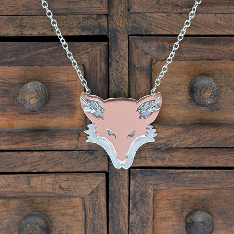 Copper Fox Necklace