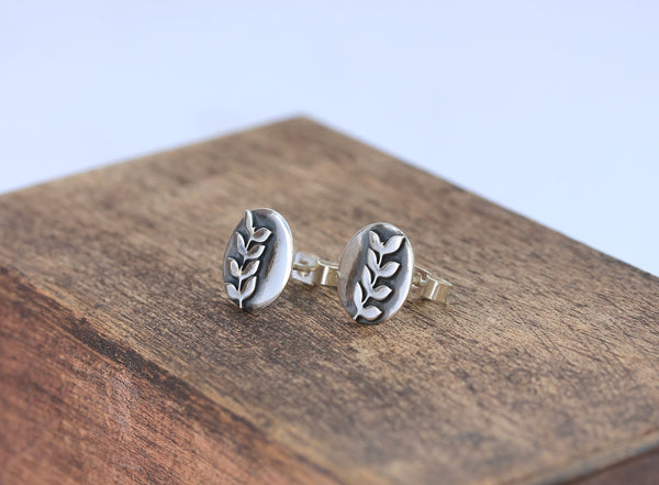 Rowan Leaf Earrings