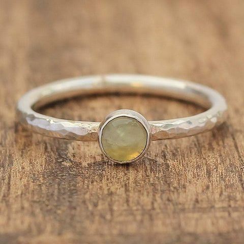 Prehnite 5mm Stacking Ring