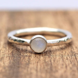 Moonstone 5mm Stacking Ring