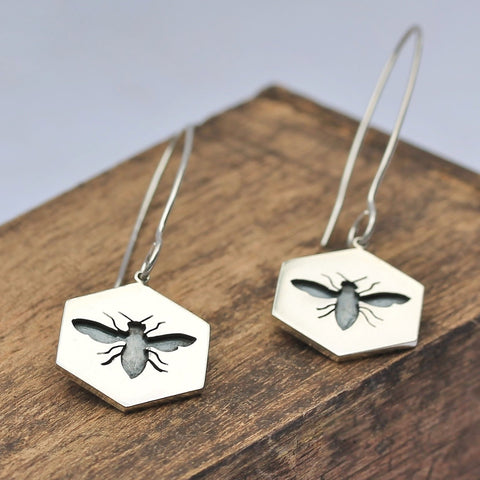 Bee Hook Earrings