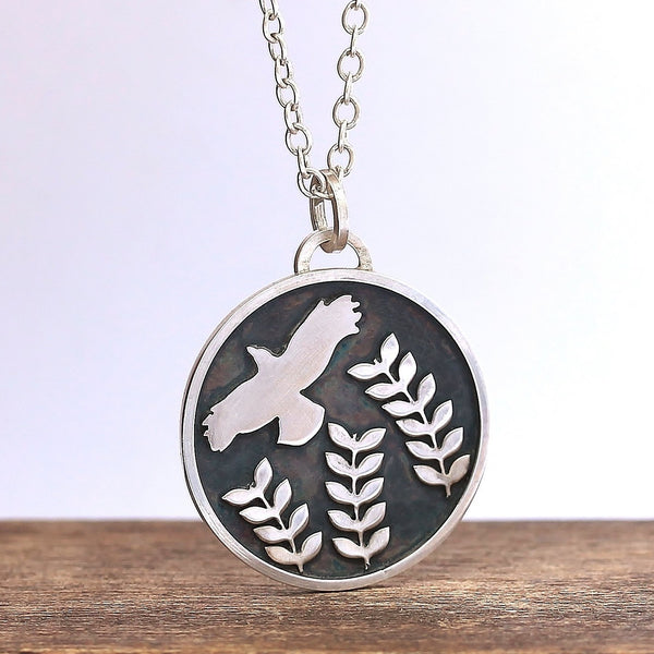 Midnight Forest Crow Necklace