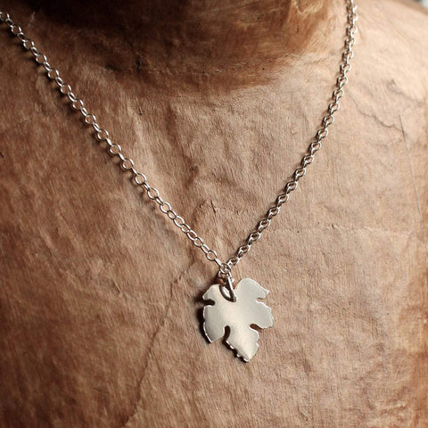 Sycamore Leaf Necklace