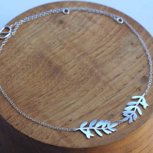 Lavender Leaf Necklace