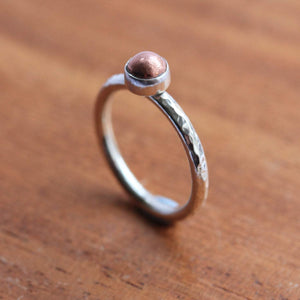 Copper Nugget Stacking Ring