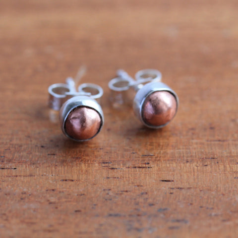 Copper Nugget Earrings