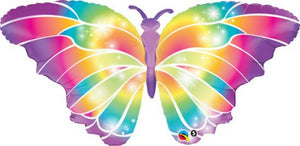 Rainbow Pastel Butterfly Foil Balloon